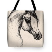 Arabian Horse Drawing 24 Tote Bag
