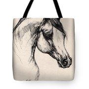 Arabian Horse Drawing 24 Tote Bag