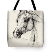 Arabian Horse Drawing 27 Tote Bag