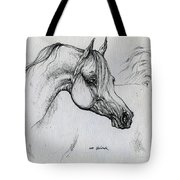 Arabian Horse Drawing 28 Tote Bag