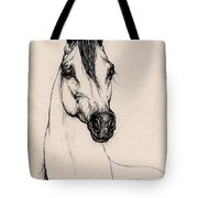 Arabian Horse Drawing 29 Tote Bag