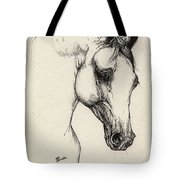 Arabian Horse Drawing 32 Tote Bag