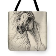 Arabian Horse Drawing 37 Tote Bag
