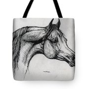 Arabian Horse Drawing 40 Tote Bag