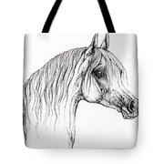 Arabian Horse Drawing 47 Tote Bag