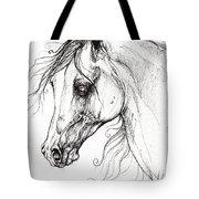 Arabian Horse Drawing 49 Tote Bag