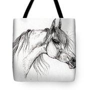 Arabian Horse Drawing 51 Tote Bag