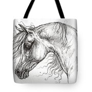 Arabian Horse Drawing 53 Tote Bag