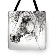 Arabian Horse Drawing 54 Tote Bag