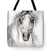 Arabian Horse Drawing 55 Tote Bag