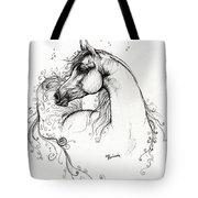 Arabian Horse Drawing 8 Tote Bag by Angel  Tarantella