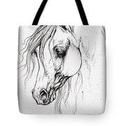 Arabian Horse Drawing Tote Bag