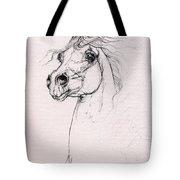 Arabian Horse Portrait 2014 02 25 Tote Bag