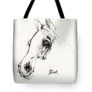 Arabian Horse Sketch 2014 05 28c Tote Bag