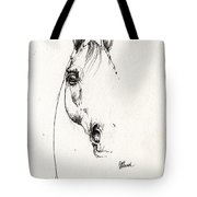 Arabian Horse Sketch 2014 05 29b Tote Bag