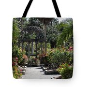 Arbor In The Rose Garden Tote Bag