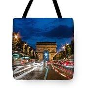 Arc De Triomphe At Dusk Paris Tote Bag