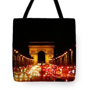 Arc De Triomphe At Night Tote Bag