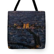 Arc De Triomphe From Above Tote Bag