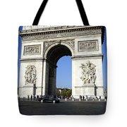 Arc De Triomphe In Paris France Tote Bag