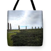 Arc Of Stones At The Ring Of Brodgar Tote Bag