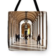 Arcades Of Lisbon Tote Bag