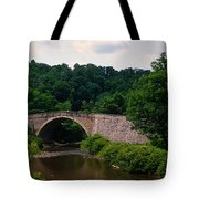 Arch Bridge Across Casselman River Tote Bag