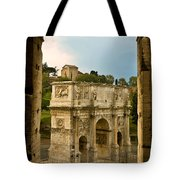 Arch Of Constantine Through The Colosseum Tote Bag