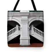 Arch Staircase Balustrade And Columns Tote Bag