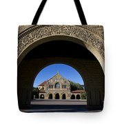 Arch To Memorial Church Stanford California Tote Bag
