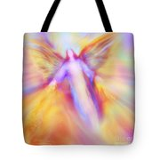 Archangel Uriel In Flight Tote Bag
