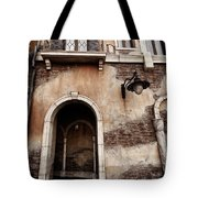 Arched Passage In Old Rustic Venetian House Tote Bag