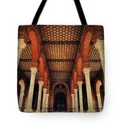 Arches And Columns Of Plaza De Espana 1. Seville Tote Bag