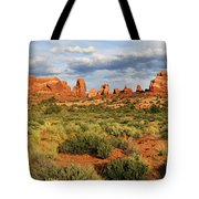 Arches National Park Panorama Tote Bag