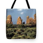 Arches National Park Sunrise Rock Formations  Tote Bag