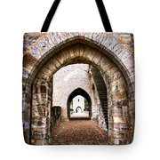 Arches Of Valentre Bridge In Cahors France Tote Bag