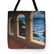 Arches Over The Ocean Tote Bag