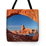 Arches Window Frame Tote Bag