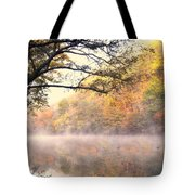 Arching Tree On The Current River Tote Bag