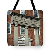 Architectural Columns With Equal Justice Tote Bag