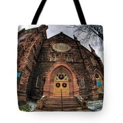 Architecture And Places In The Q.c. Series 01 Trinity Episcopal Church Tote Bag
