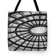 Architecture Ceiling In Black And White Tote Bag