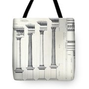 Architecture I Orders Of Architecture Engraved By Charles Lawrie Tote Bag