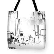 Architecture Of New York City Tote Bag by Dan Sproul