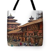 Architecture Of Patan Durbar Square In Lalitpur-nepal Tote Bag