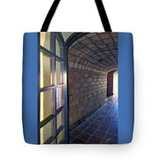 Archway In Mission Inn Riverside Tote Bag