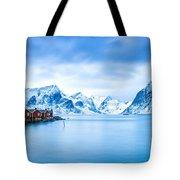 Arctic Dawn Lofoten Islands Tote Bag