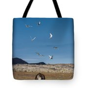 Arctic Terns With Mare And Foal Tote Bag