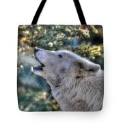 Arctic Wolf Song Tote Bag