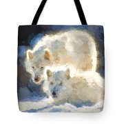 Arctic Wolves - Painterly Tote Bag